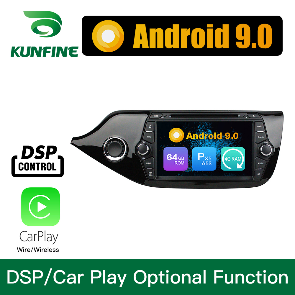 Android 9.0 Octa Core 4GB RAM 64GB Rom voiture DVD GPS lecteur multimédia voiture stéréo pour KIA CEED 2013-2015 Radio Headunit WIFI