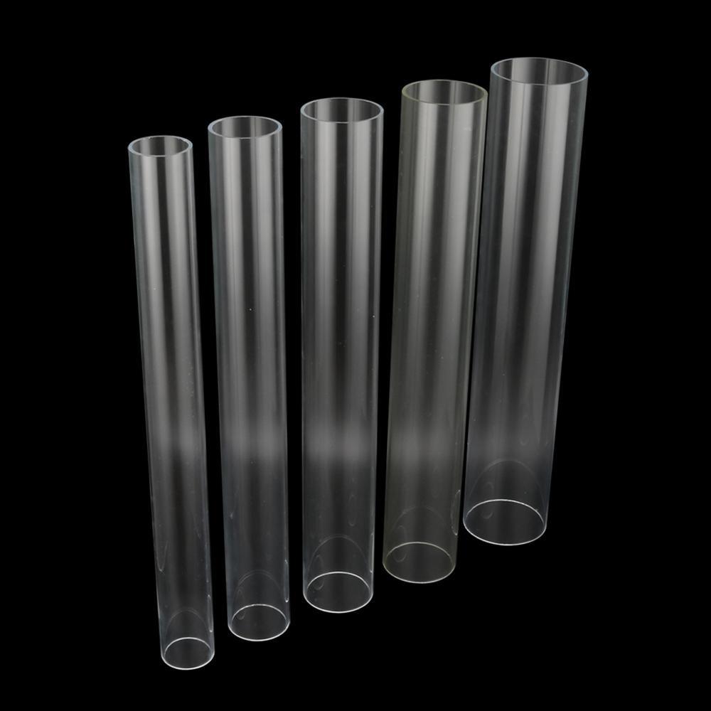 1 Pc 48~50cm Length 50/60/70/75/90mm Highly Transparent Acrylic Pipe Fish Tank Aquarium Irrigation Pipe Tube