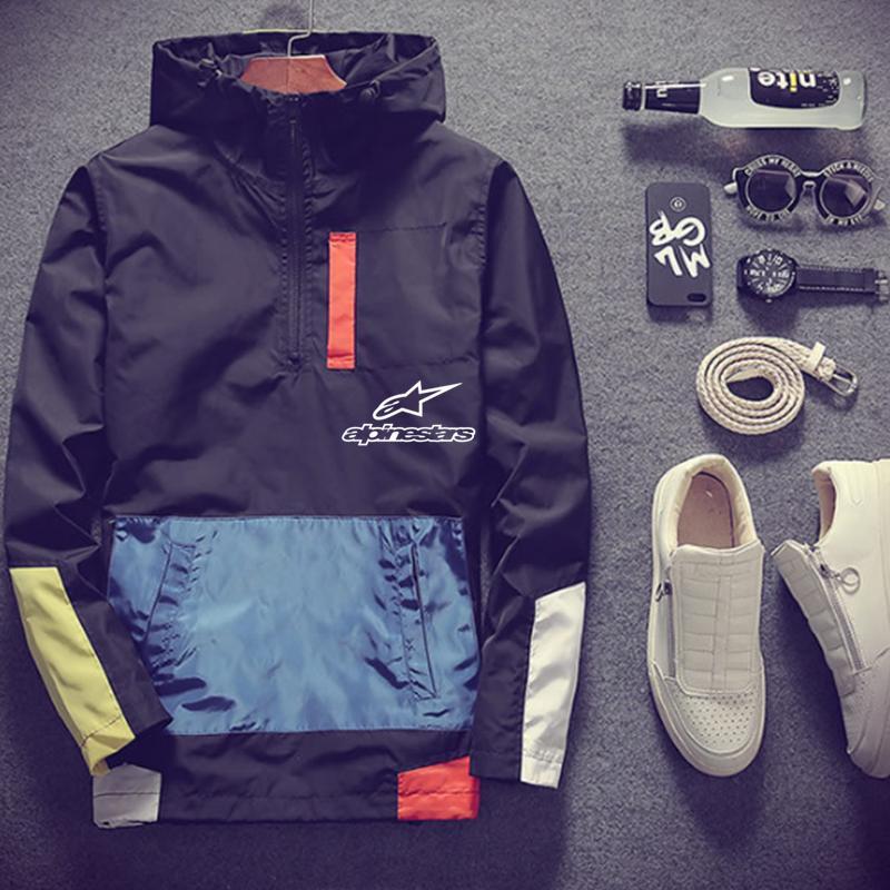2020 Новая мода весна и лето горная куртка со звездой Мужская Уличная ветровка с капюшоном на молнии тонкая куртка мужская повседневная куртка|Куртки| | АлиЭкспресс