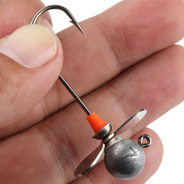 Spinpoler 2 PSC High Quality 5g 7g 10g 14g Lead Head Propeller Single Hook Jig Bait Fishing Hooks For Soft Lure Fishing Tackle