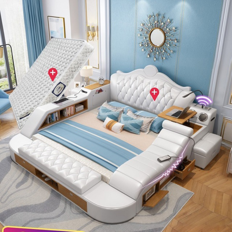 Luxurious Multifunctional Bedroom Furniture Double Queen King Size
