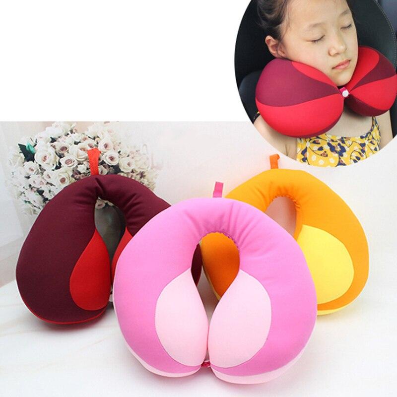 Pillow Kids Newbron Travel Neck Pillow U-Shape For Car Headrest Air Cushion Child Car Seat Head Support Infant Baby
