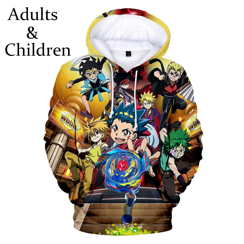 3D Beyblade Burst Evolution Hoodies Men Women Fashion Kids Pullovers Autumn High Quality Children Hoodies Boys Girls Sweatshirts