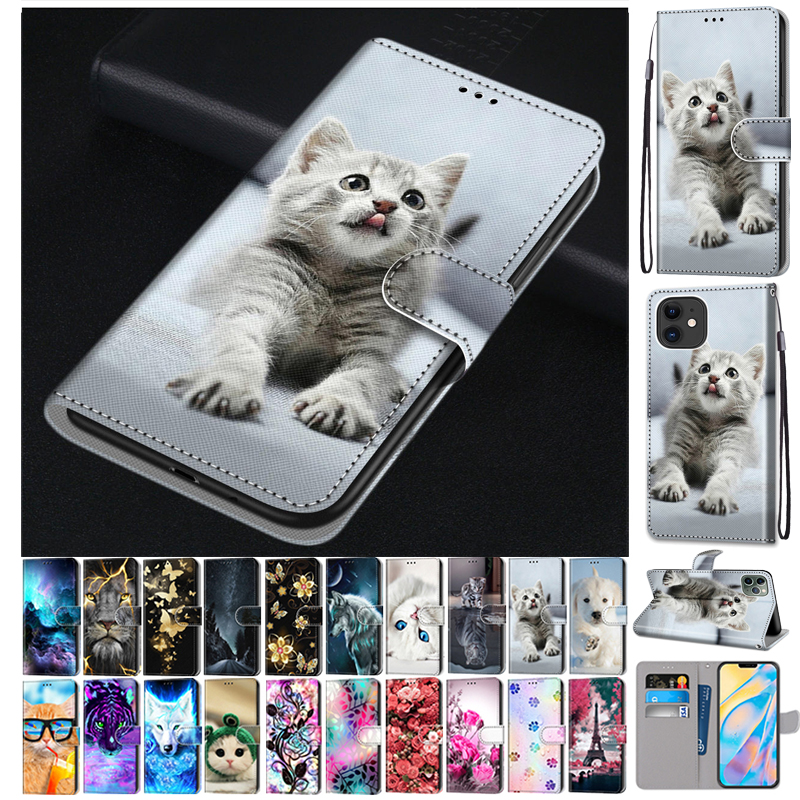 Flip Case For Xiaomi Redmi 9 9A 9C NFC 8 8A Case Leather Silicone Wallet Cover For Xiomi Redmi Note 8 Pro 9 9S 9 Pro Book Cases