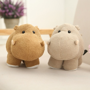 цена Huggable Simulation Elephant Hippo Plush Toy Soft Stuffed Cartoon Animal Doll Home Decoration Baby Kids Birthday Christmas Gift онлайн в 2017 году