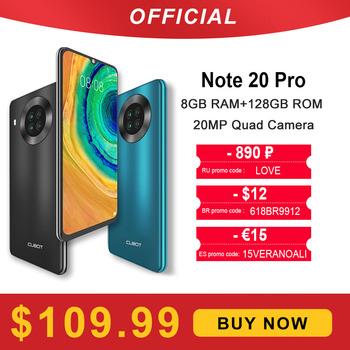 Cubot Note 20 Pro Quad Camera Smartphone NFC 6GB 8GB + 128GB 6 5 #8222 4200mAh Android 10 Dual SIM telefon 4G LTE celular Note20 Pro tanie i dobre opinie Odpinany inny CN (pochodzenie) Rozpoznawanie twarzy 12MP MCharge english Rosyjski Niemieckie French Spanish POLISH Portugalskie