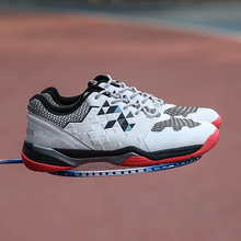 New Arrival Couples Badminton Shoes White Blue Men And Women Gym Shoes Light Weight Badminto Trainers Men Brand Womens Sneakers