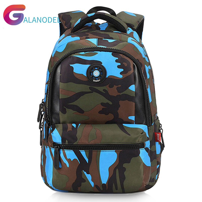 Kid Backpack Camouflage Men Bag Travel Bags for Cool Boy Military School Out Side