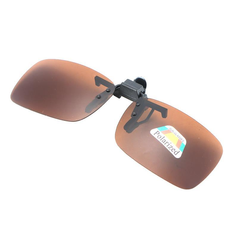 Anti-glare Polarized Sunglasses Clip UV400 Lens Driving Eyeglasses Drive Sun Spectacles Dark Brown Night Vision Glasses