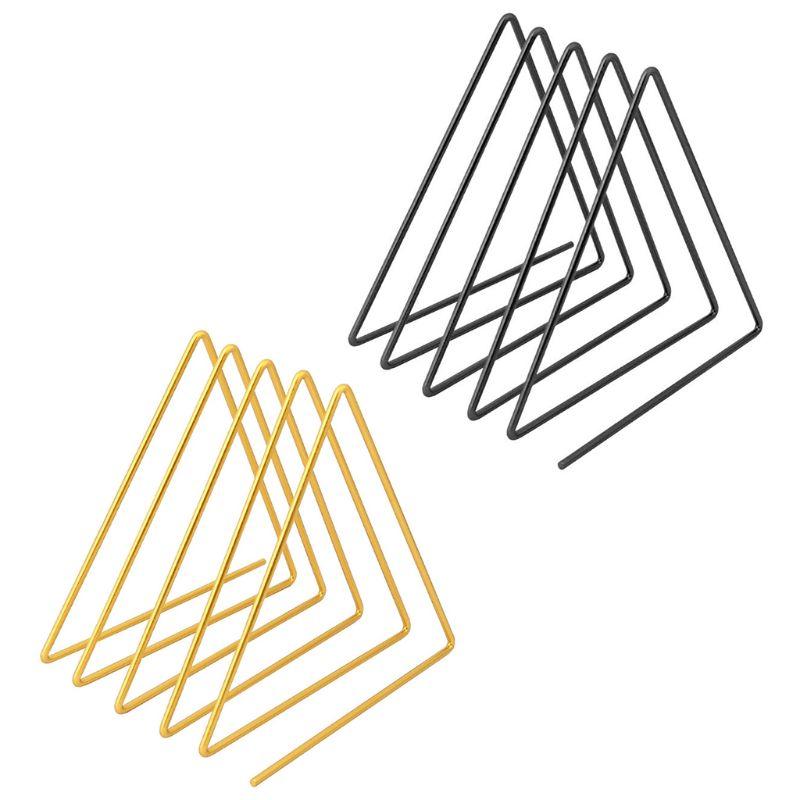 Nordic Triangle Shape Simple Book Support Stand Desktop Storage Rack Shelf Decor