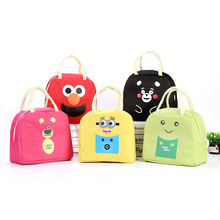 Fashion Cartoon Anime Waterproof Oxford Cloth Portable Lunch Bag Ice Pack Box Package Picnic Insulation
