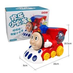 Música elétrica trem iluminação engraçado modelo de carro aniversário incrível presente brinquedo plástico das crianças para o menino do miúdo