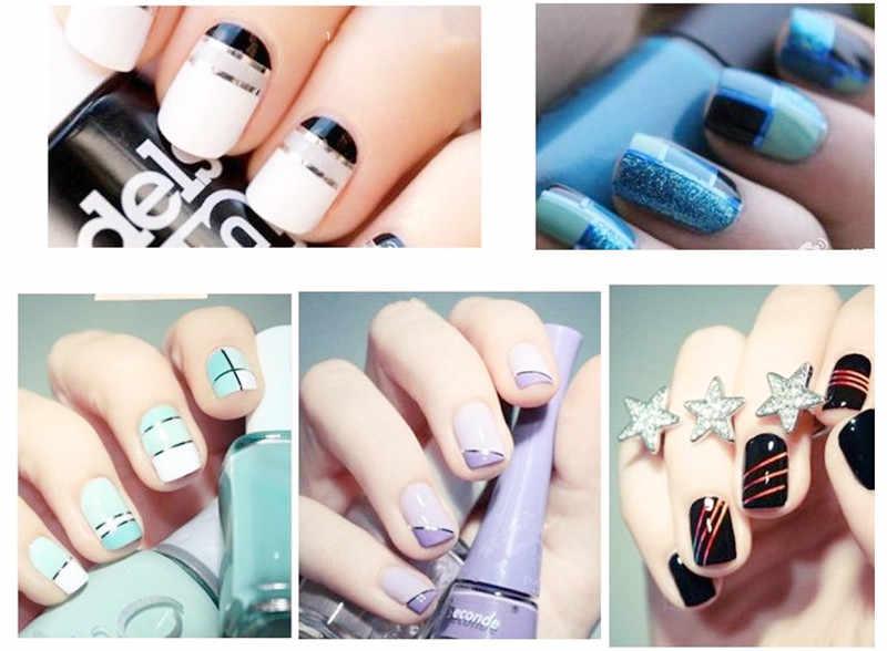 Hot Sale Colorful Nail Striping Tape Line 3D Nail Art Dekorasi DIY Kuku Stiker Perekat Stiker Nail Art Tips Manikur kit