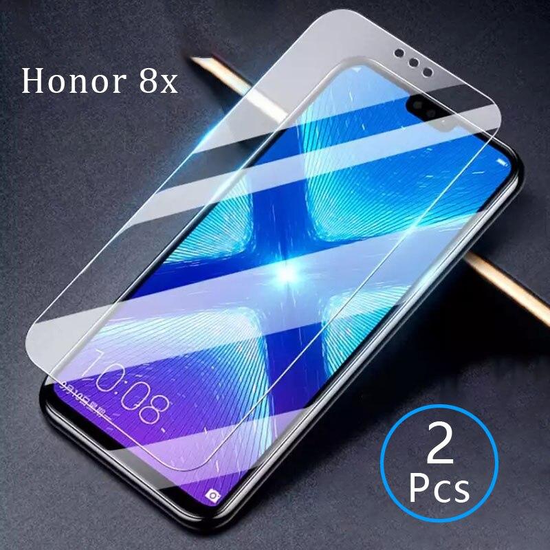 Verre de protection sur honour 8x verre trempé pour huawei honer 8 x x8 honor8x verre film protecteur d'écran huawey huwei hawei onor