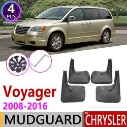 Mudflap para Chrysler Voyager 2008 ~ 2016 Flaps Respingo Guarda Lama Fender Paralama Acessórios 2009 2010 2011 2012 2013 2014 2015