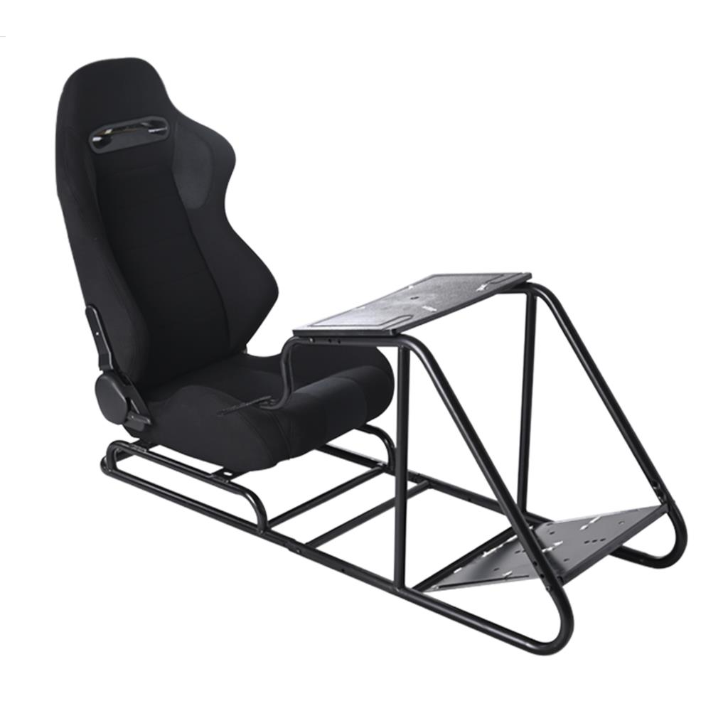 Epman Adjustable PVC 2-Color Driving Seat Gaming Simulator Chair Gaming Racing Seat W/ Pedal +Shifter Mount JBR1012