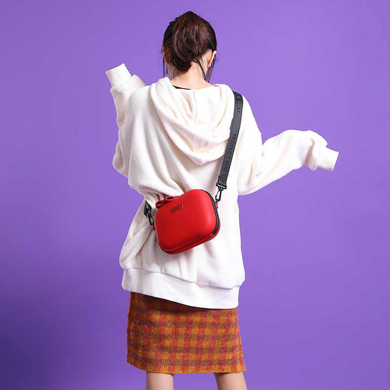 Weichen Baru Kekerasan Kotak Crossbody Tas Kulit Tas Tangan Wanita Messenger Tas Bolsa Sac Perempuan Dompet Fashion Wanita Tas