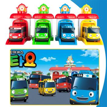 Big Size 4 sztuk zestaw wyrzucanie zabawka model autobusu Tayo autobus samochód zabawki Diecasts i pojazdy zabawkowe samochód dzieci zabawki pojazd dla dzieci Juguetes tanie i dobre opinie 3 lat 2001 1 64 No Eating Inne Model Mini pull back Ejection