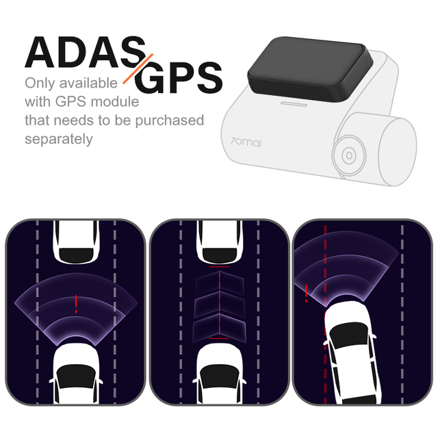 70mai Smart Dash Cam Pro 1944P Speed Coordinates GPS ADAS 70mai Pro Car Dash Camera WiFi 70mai Car DVR Voice Control 24H Parking 2