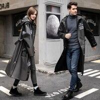 2021 Fashion Erwachsene Lange Regenmantel Frauen Männer Regen mantel Wasserdicht Mit Kapuze Schwarz Für Outdoor Wandern Reise Angeln Radfahren Regenbekleidung