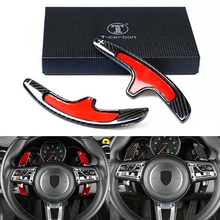 Carbon Steering Wheel Shift Paddle Shifter for Porsche Macan 718 911 997 996 Panamera Cayenne Cayman GTS 918 Spyder Boxster