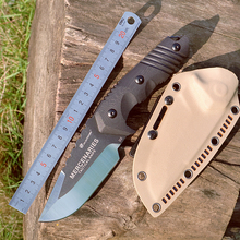 HX OUTDOORSHard Tough D2 Steel Fixed Blade Hunting Knife Outdoor Survival Knives& Sheath factory For Hiking Hot Sale 2017 hot sale sale made in japan bell knife blade for model skiving machine best seller with high quality nippy 301a knife blade