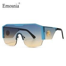 2021 جديد الحديثة المتضخم مربع النظارات الشمسية الرجال النساء إطار كبير قطعة واحدة عدسة نظارات شمسية التدرج القيادة للجنسين نظارات UV400