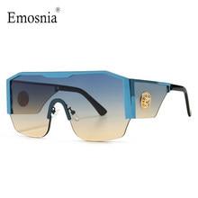 2021 New Modern Oversized Square occhiali da sole uomo donna Big Frame One Piece Lens occhiali da sole Gradient Driving Unisex Eyewear UV400
