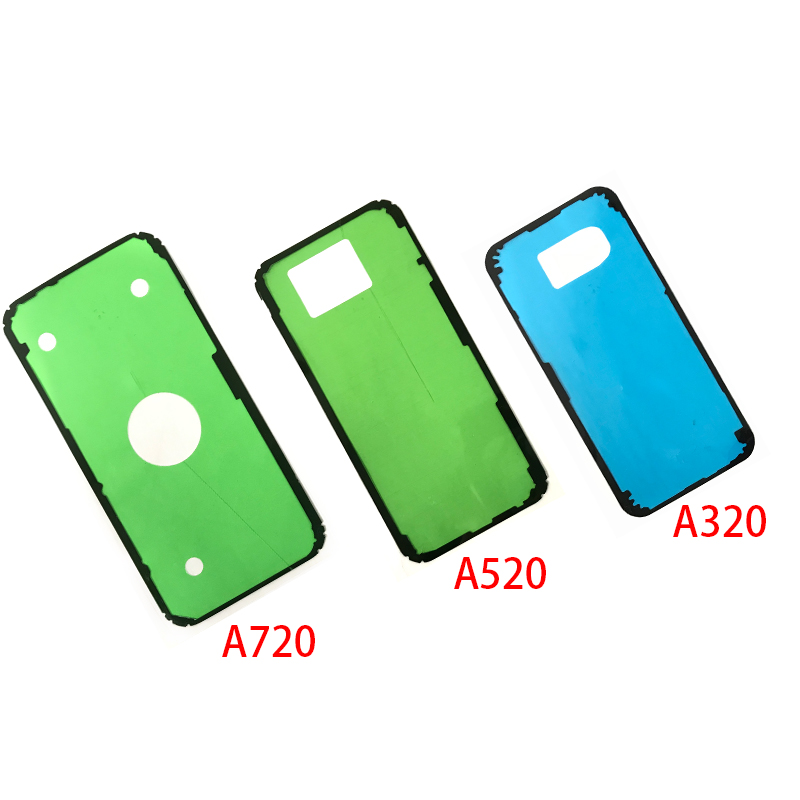 10Pcs For <font><b>Samsung</b></font> A50 A505 A3 <font><b>A5</b></font> A7 2017 A320 <font><b>A520</b></font> A720 Back Rear Battery Glass Cover Adhesive Sticker image