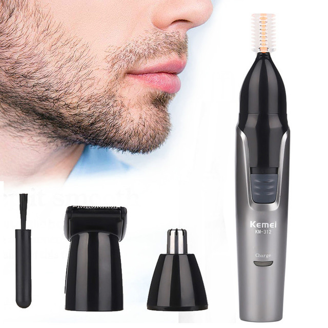 หูและจมูกผมRemoverสำหรับMen Shaver Beard Faceคิ้วTrimmer Grooming 3ใน1ชุด,Mensมีดโกน