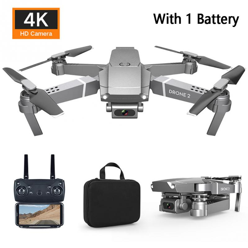 E68 WIFI FPV Video 2.4GHz RC Drone Rechargeable Folding Quadcopter Altitude Hold image