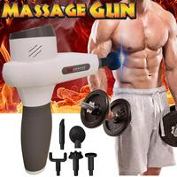 Electronic Therapy Body Massage Guns 5 Files Heads Brushless LED Massage Guns Body Muscles Relaxing Relief Pains