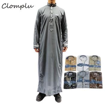 Clomplu 12 Pcs Fashion Jubba Thobe Muslim Abaya Kaftan Arabic Islamic Clothing Men Muslim Men Casual Random Colors Mens Clothing