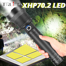 90000 Lumens XLamp XHP70 Powerful Flashlight USB Zoom XHP50 LED Torch 18650 / 26650 Rechargeable Battery Hunting Tactical Light