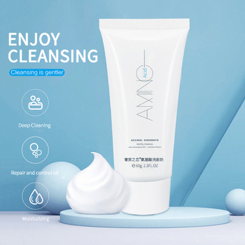Amino Acid Face Cleanser Facial Scrub Cleansing Acne Oil Control Blackhead Remover Shrink Pores Face Cleaning Skin Care image