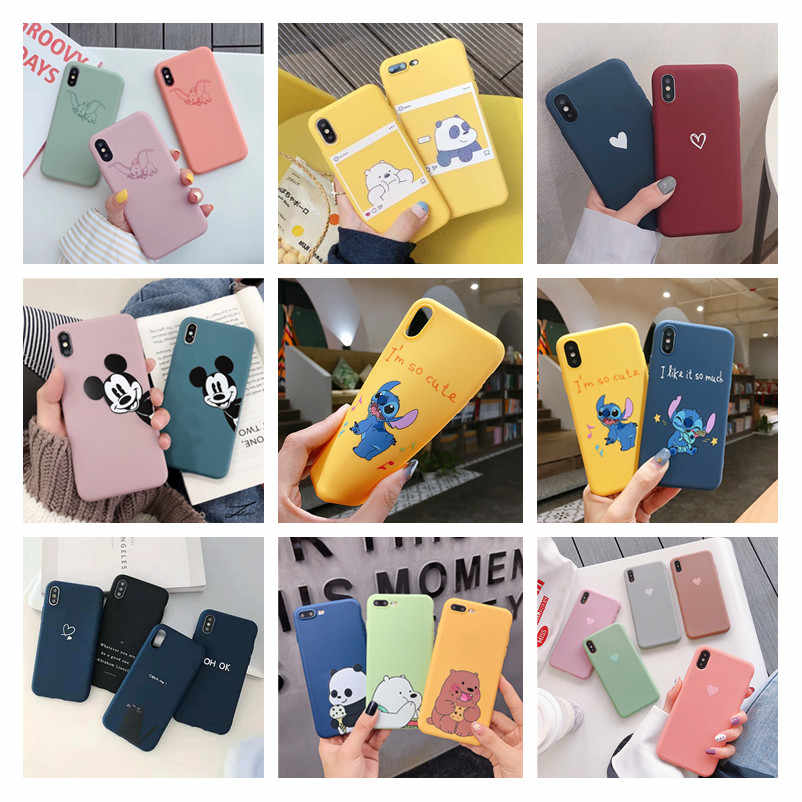 Cartoon Bear Silicone Soft Phone Case Voor iphone 8Plus 7Plus 8 7 Hart Matte Mobiel Coque 6 voor iphone X XS Max XR 5S Carcasa