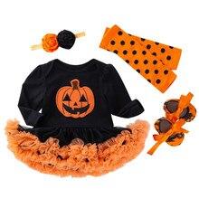 Halloween Baby Girl Scary Pumpkin Tutu Dresses Outfit Set