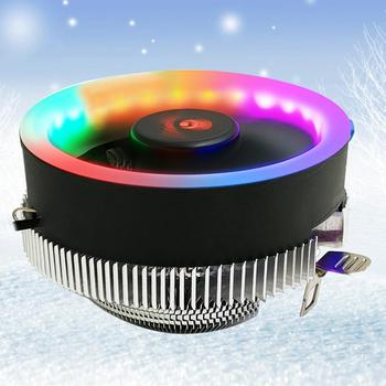 Q2 RGB LED Computer PC CPU Chassis Cooling Cooler Fan Heat Sink for Inter 775/1366/1156 AMD754/939/940 Desktop CPU Fan Heat Sink image