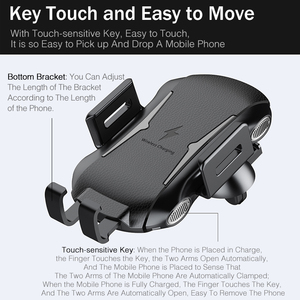 Image 5 - YKZ Qi Wireless Caricabatteria Da Auto per iPhone XS Max Samsung S10 Veloce Senza Fili Caricabatteria Da Auto Mount Supporto Del Telefono Mobile per huawei Xiaomi