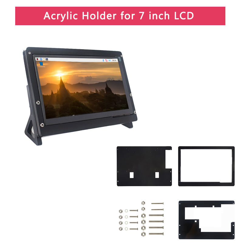 Image 3 - Raspberry Pi 4 Model B LCD Kit + 7 inch Touch Screen + Holder + 64 32 GB SD Card + Fan + Heat Sink + Power + Micro HDMI for Pi 4-in Demo Board from Computer & Office