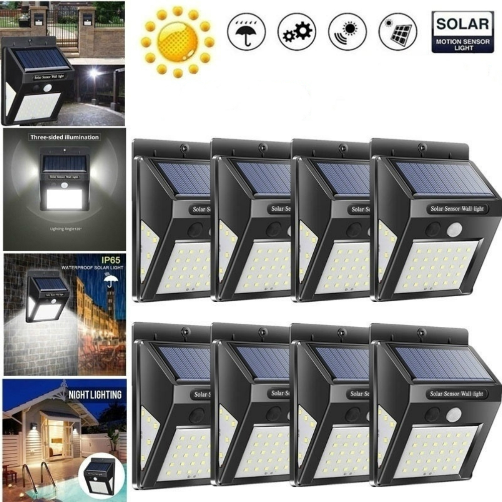 Solar Lights Outdoor Security Motion Sensor Lights Wireless IP 65 Waterproof Outdoor Lights For Garden Fence Patio Garage