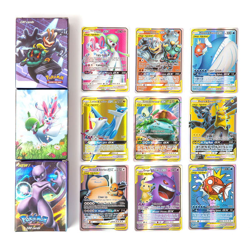 Promotion price 2019 New Arrial GX EX MEGA TAG TEAM Shining Pokemon Cards Game Battle Trading Cards Game Children Toy