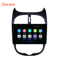 Seicane 9'' Android 8.1 2.5D Screen Car Radio Audio GPS Autoradio for Peugeot 206 2000 2014 2015 2016 support DVR OBDII DAB+
