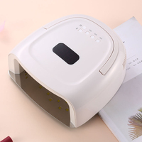 Red Light 60W Cordless LED UV Nail Lamp Built in Large Battery Volume LCD Display Gel Polish Nail Light Dryer Wireless ABS 60