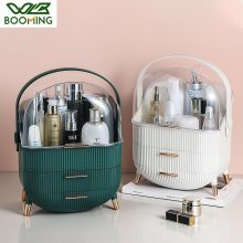 WBBOOMING Makeup Organizer Waterproof Dustproof Cosmetics Box Drawer Bathroom Desktop Skin Care Storage Box Fashion Big Capacity