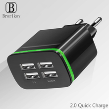 4 Ports USB Wall Charger Smart Travel Adapter Portable Mobile phone Fast Charging for iPhone Samsung