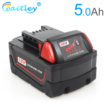 Waitley 18V 5.0Ah Replacement Lithium Battery for Milwaukee M18 Power tool ion 18 v Batteries 5000mAh For Cordless Drill Tools waitley 18v 5 0ah replacement lithium battery for milwaukee m18 power tool ion 18 v batteries 5000mah for cordless drill tools