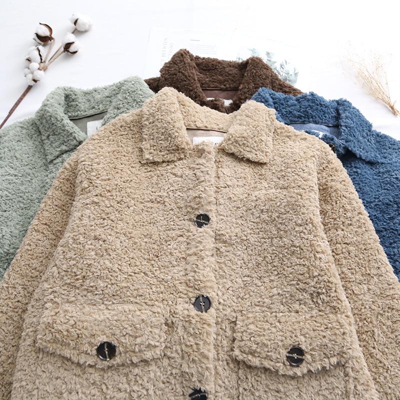 Koreaanse Dikke Lam Wol Jassen Vrouw Kleding Vintage Plus Size Winter Jas Vrouwelijke Warme Jas Vrouwen Jassen Tops Ll006 - 4