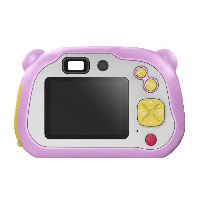 2 pouces WiFi enfants caméra 1080P HD caméscope numérique avec double objectif Flash et mise au point automatique pour les filles et les garçons (carte 16G TF)