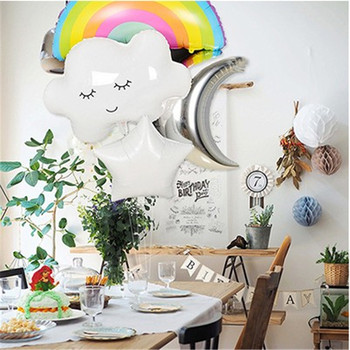 Rainbow Smile Sun Cloud Foil Balloons Birthday Party Kids Baby Shower Decoration Helium Balloons Wedding Supplies image